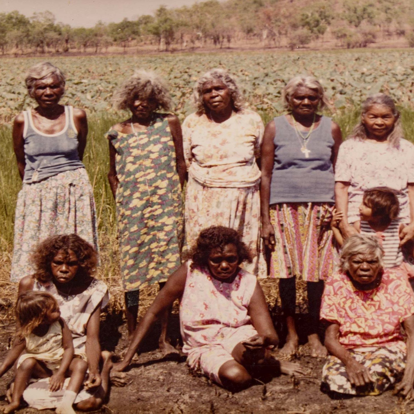 Group photo of the Aboriginal women who founded Merrepen Arts